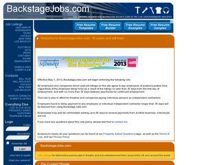 BackStage Jobs