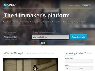 Cinely.com – The filmmaker's platform