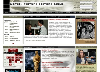 Motion Picture Editor's Guild Availability List