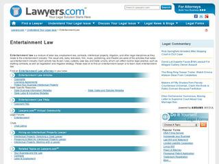 Entertainment-Law.Lawyers.com