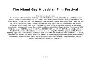 Miami Gay & Lesbian Film Festival