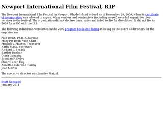 Newport International FIlm Festival