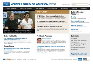 Writers Guild Signatory Agents and Agency