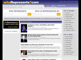 Who Represents (talent/agent search)